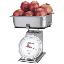 "Edlund 50 Pound x 2 Ounce, Stainless Steel, Mechanical ""HD Series"" Receiving Scale"