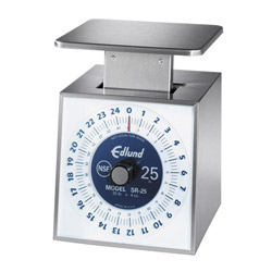 Edlund 25# x 4 oz Stainless Steel Increment Scale