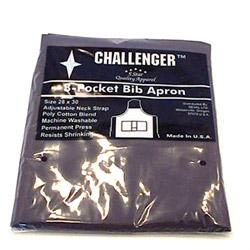 """Challenger 28"""" x 30"""" Black 3 Pocket Adjustable Apron"""