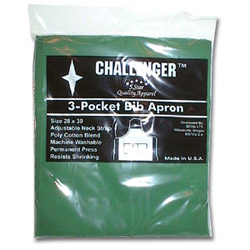 "Challenger 28"" x 30"" Hunter Green 3 Pocket Adjustable Apron"