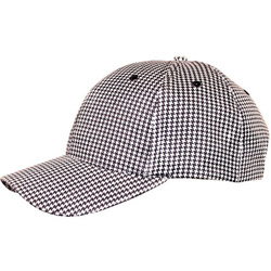 Challenger Black/White Checked Baseball Cap