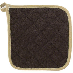 "Challenger Brown 8"" Brown Terry Pot Holder"