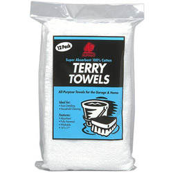 "Buffalo Industries Washed Terry Towels, 14"" x 17"""