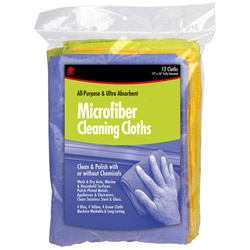 Buffalo Industries Microfiber Cleaning Cloth, 1 Bag of 12 Coths