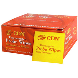 CDN® Thermometer Probe Wipes-Packets