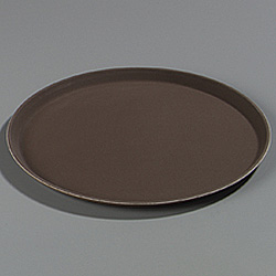 Carlisle Foodservice Products Toffee Tan Round Griptite Tray, 14""