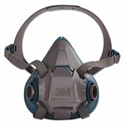 3M Rugged Comfort Half-Facepiece Reusable Respirators, Medium