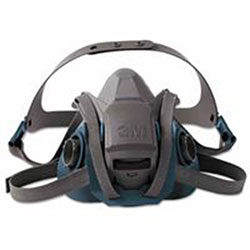 3M Rugged Comfort Quic-Latch Half-Facepiece Reusable Respirators, Medium