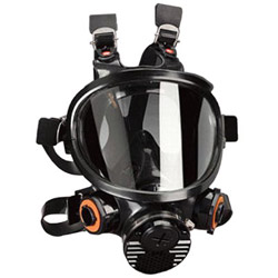 3M Full Face Piece Siliconerespirator Medium Size