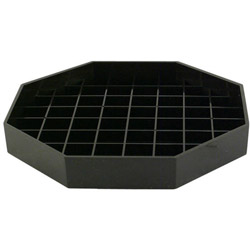 Cal Mill-Plastic Products Black Octagon Drip Tray, 6 x 6