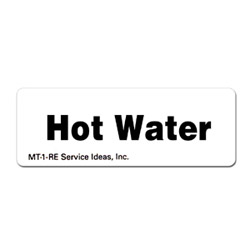 Service Ideas Hot Water Magnetic Tags
