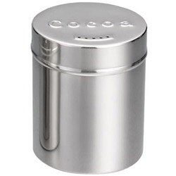 Tablecraft 6 Ounce Stainless Steel Cocoa Shaker