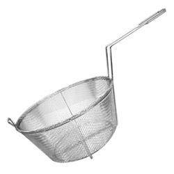 "Misc Imports 11 1/4"" 6-Mesh Round Fry Basket Fry"
