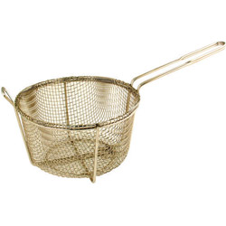 "Misc Imports 8 1/2"" 4-Mesh Round Fry Basket Fry"