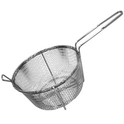 "Misc Imports 9 1/2"" 4-Mesh Round Fry Basket Fry"