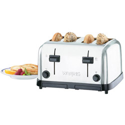 Waring Brushed Chrome 4 Slice Toaster