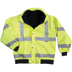 Ergodyne Glowear 8380 Class 3 Bomber Jacket 3xl Lime