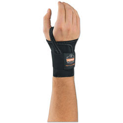 Ergodyne ProFlex 4000 Wrist Support, Left-Hand, Large (7-8 in), Black