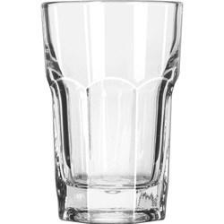 "Libbey Gibraltar Glass Tumblers, Hi-Ball, 9oz, 3 3/4"" Tall, 36/Carton"