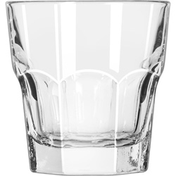 Libbey 15245 7 Ounce Duratuff Gibraltar Tall Rocks Glass, Clear
