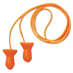 Howard Leight Quiet Multiple-Use Earplugs, Corded, 26NRR, Orange/Blue, 100 Pairs