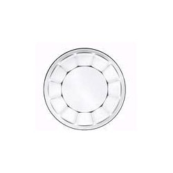"Libbey 15412 8"" Soup or Salad Deep Glass Plate"