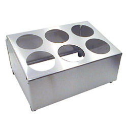 Misc Imports 6 Cylinder Stainless Steel Flatware Holder