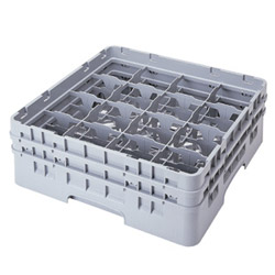 "Cambro Gray Camrack 16-Compartment 1Xt 4-1/2"" Dish Rack"