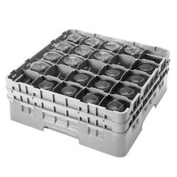 Cambro Gray Camrack 25-Compartment 1-Extension Dish Rack For Stemware