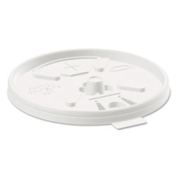 Dart Container Lid With Straw Slot, Translucent