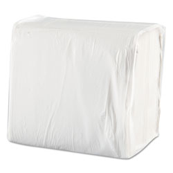 Morcon Paper Dinner Napkins, White, 1 Ply, Case of 3000
