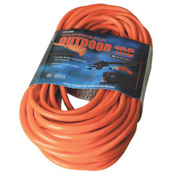 Coleman Cable 02409 100' 14/3 Sjtw-a Red Extcord 300v