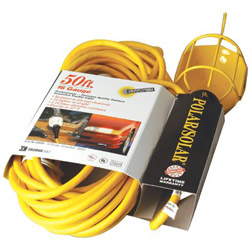 Coleman Cable Polar/Solar Incandescent Trouble Light, 100W, 25ft 14/3 AWG Cord, Yellow
