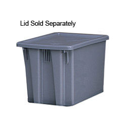 Rubbermaid Gray Palletote Box 1 5/8 cu ft