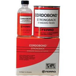 Ferro Industries CORDOBOND Strong Back Resin and Activator, 1 lb Kit