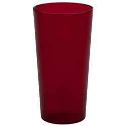 Cambro 22 Oz Cold Plastic Tumblers, Red, Pack of 72