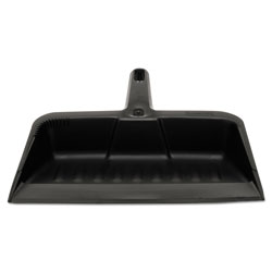 Rubbermaid Heavy-Duty Dustpan, 8 1/4 in w, Polypropylene, Charcoal
