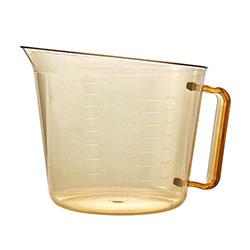Cambro 200MCH150 2 Qt. Amber Plastic Measuring Cup