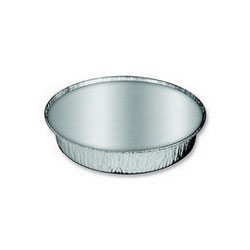 "Handi-Foil 204630W Round 9"" Aluminum Containers with Lid"