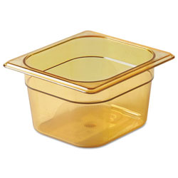 Rubbermaid Amber Hot Food Pan 1/6 Size