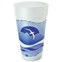 Dart 20J16 Blueberry Horizon Design 20 Ounce Foam Cups