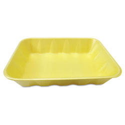 "Genpak 20KYL Yellow Foam Meat Tray, 11 7/8"" x 8 3/4"" x 2 7/16"""