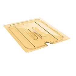 Cambro Food Pan Lid 1/2 H-Pan® Handle Notched Amber