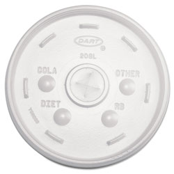 Dart Cold Cup Lids, 32oz Cups, Translucent, 100/Sleeve, 10 Sleeves/Carton