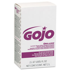 Gojo NXT Deluxe Lotion Soap w/Moisturizers, Floral, Pink, 2000mL Refill, 4/Carton