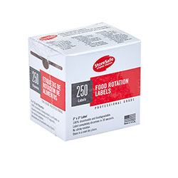 Cambro Food Rotation Labels Bulk 250 Sheets 24 Rolls White