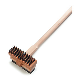 Carlisle Foodservice Products Double Head Grill Scrub Brush with Handle