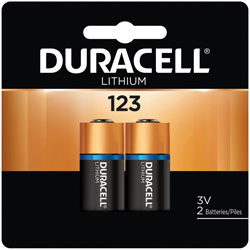Duracell DL123AB2PK 3.0 Volt Lithium Battery(2 Batteries/cd)