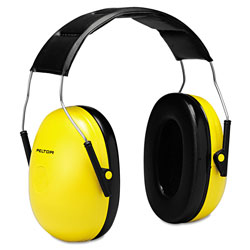 Peltor Optime 98 H9A Earmuffs, 25 dB NRR, Yellow/Black