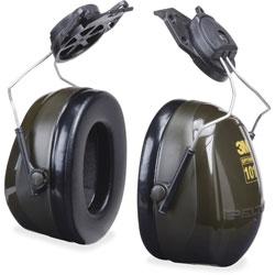 Peltor Optime Earmuff Cap-Mount Headset, 24 dB NRR